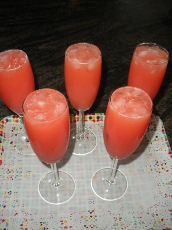 Blushing rose mimosa recipe cherries maraschino for How many mimosas per bottle of champagne