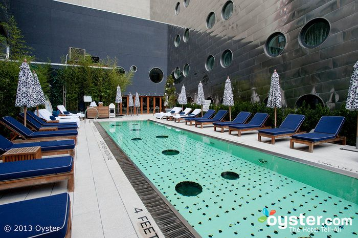 """The Biggest Celebrity Hotel Scandals of 2012:  The Dream Hotel Downtown, New York City (The Pool)  Will Lindsay """"LiLo"""" Lohan ever learn?  She spent the night partying here, hopped in her Porsche, hit a restaurant employee, sped away, and was later arrested for hit and run by police. (Septembet 2012)"""