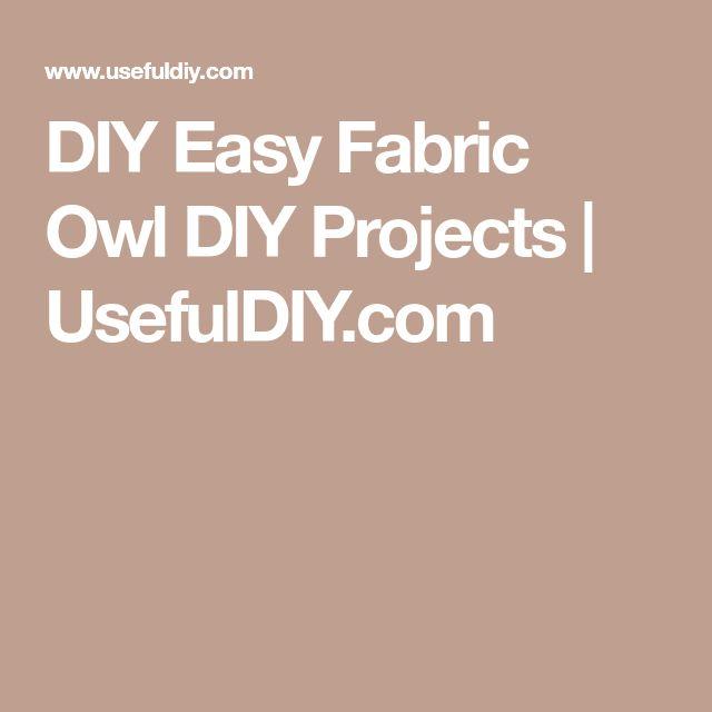 DIY Easy Fabric Owl DIY Projects | UsefulDIY.com