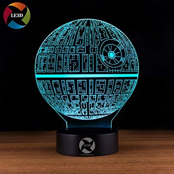 Death Star Themed 3d Illusion Led Night Light Star Wars Houseware Product Http Geekbeholder Com P 3d Optical Illusions Color Changing Lamp 3d Illusion Lamp