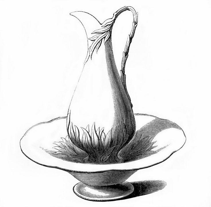 Pitcher and washbowl illustration.