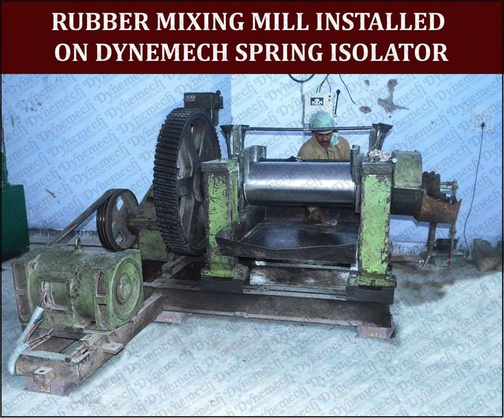 Highly dynamic machines like rubber mixing mill are accommodated  on first floor through machinery installation on DYNEMECH Vibration Transmission Control Systems.http://www.vibrationmountsindia.com/applications.html