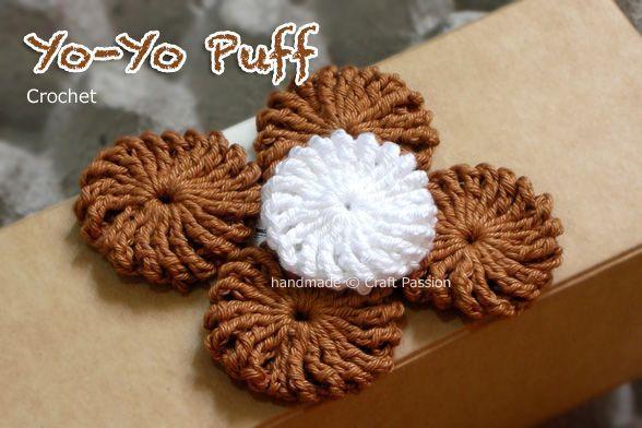 crochet yoyo puffCrochet Flower, Yoyo Puff, Crochet Tutorials, Crochet Yoyo, Tutorial Crochet, Yo Yo Puff, Puff Tutorials, Crochet Pattern, Flower Pattern