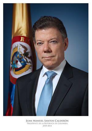 Juan Manuel Santos Calderón, presidente de Colombia  Fuente: http://wsp.presidencia.gov.co/