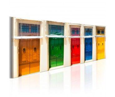Foto su tela Colourful Doors