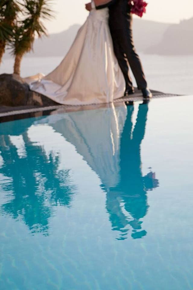 Whether romantic, fun, stylish, elegant or witty, a #wedding is a reflection of a couple's personality...  #perivolas #oia #santorini #greece