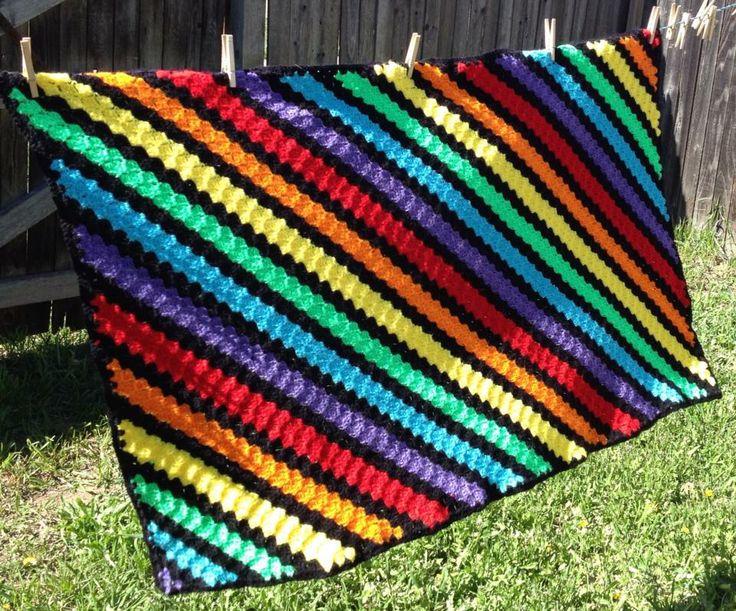 34 best Crochet c2c Afghans images on Pinterest | Crochet afghans ...