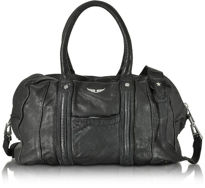 Zadig & Voltaire Beha Deep Dye Marine Leather Satchel Bag