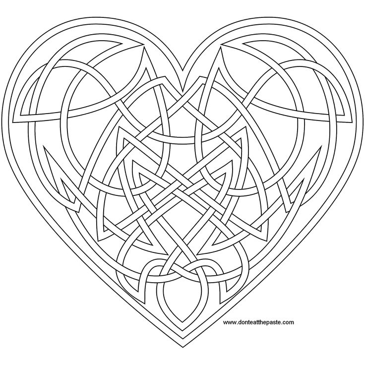 knotwork heart coloring page also available as a jpg