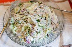 Японский салат с языком