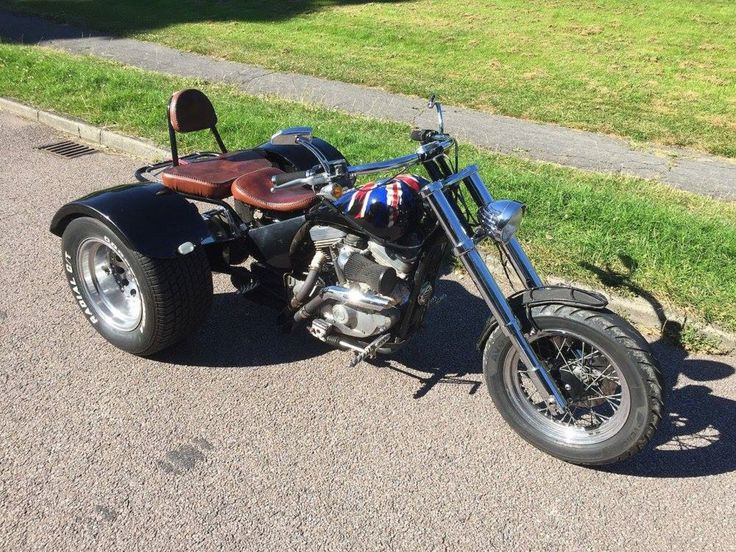 """1989 Harley-Davidson XL1200 Sportster Trike """"The Flag Bearer"""" BB Custom Built Bike,  recently auctioned on eBay with a Classified Ad Price: £7,995 (or Best Offer),  Contact Seller:  01234584152,  07748380138,  Item location:Bedford, Bedfordshire, UK.    http://www.ebay.co.uk/itm/HARLEY-DAVIDSON-1200-TRIKE-THE-FLAG-BEARER-BB-CUSTOM-BUILT-BIKE-/122092390847?hash=item1c6d4609bf%3Ag%3AZS4AAOSwMtxXt30y and/or http://bedfordvancentre.co.uk/used-car-harley-davidson-xlh-tourer-188.htm"""