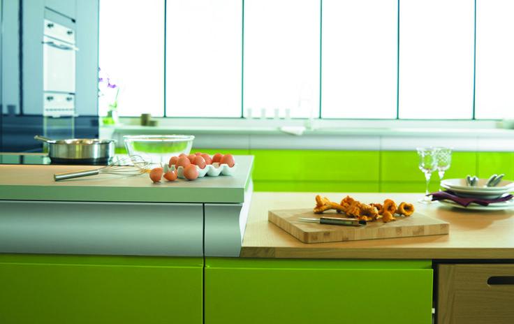 Cuisine Rendez-vous par Thibault Desombre pour Arthur Bonnet, Coloris Vert & Bleu http://www.arthur-bonnet.com/cuisines/rendez-vous-coloree/