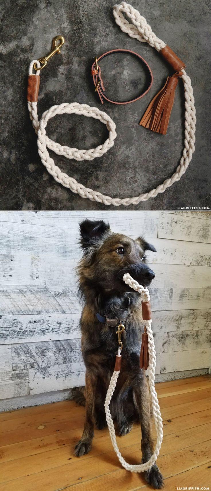DIY #DogLeash tutorial at www.LiaGriffith.com
