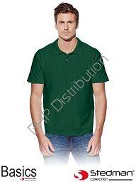 Zielona męska koszulka polo STEDMAN ST3000_BOG