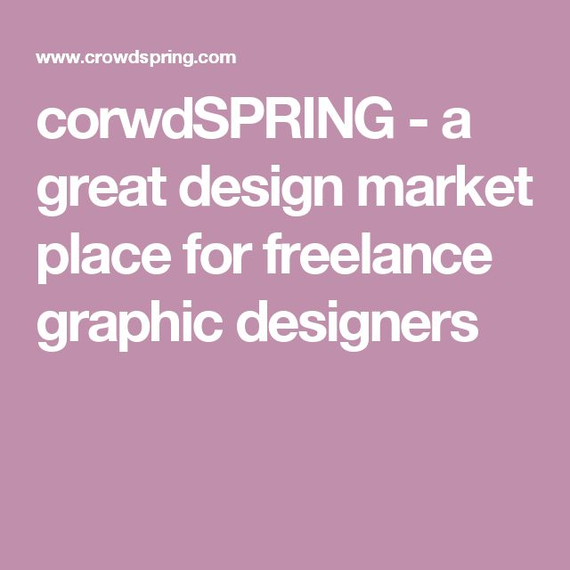 corwdSPRING - a great design market place for freelance graphic designers