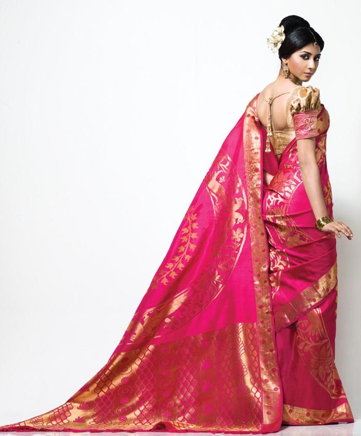 pink women saree