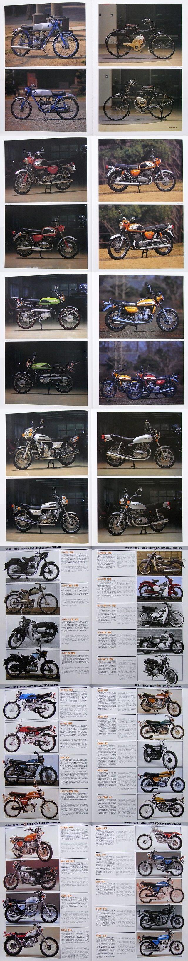Vintage Suzuki Bike Collection. 1952 & Beyond Motorcycle Models. Pin This!