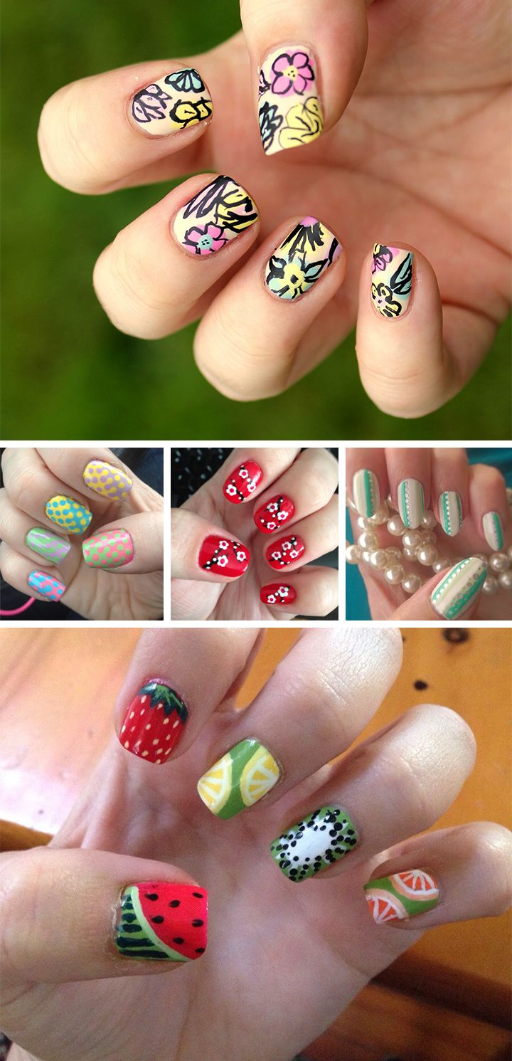 Just in case you didn't get a chance to try out some of this warm-weather nail art during spring.