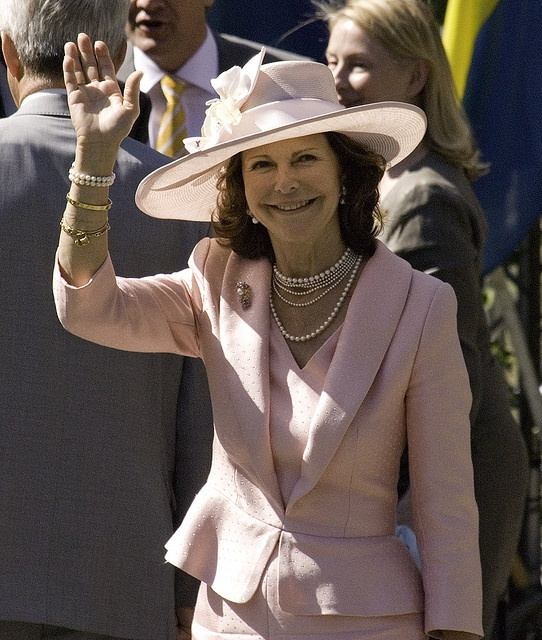 Queen Silvia of Sweden on National Day 6 June 2008