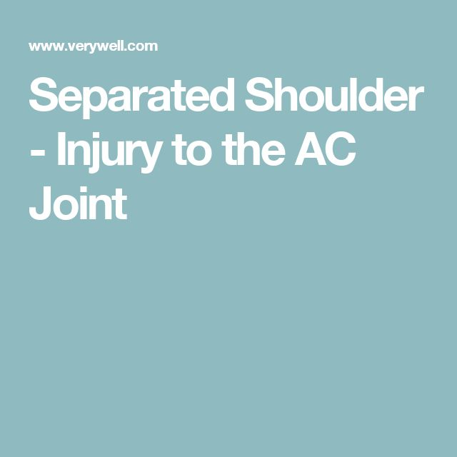Separated Shoulder - Injury to the AC Joint