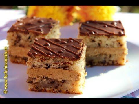 Prajitura cu nuci, ness si ciocolata - YouTube