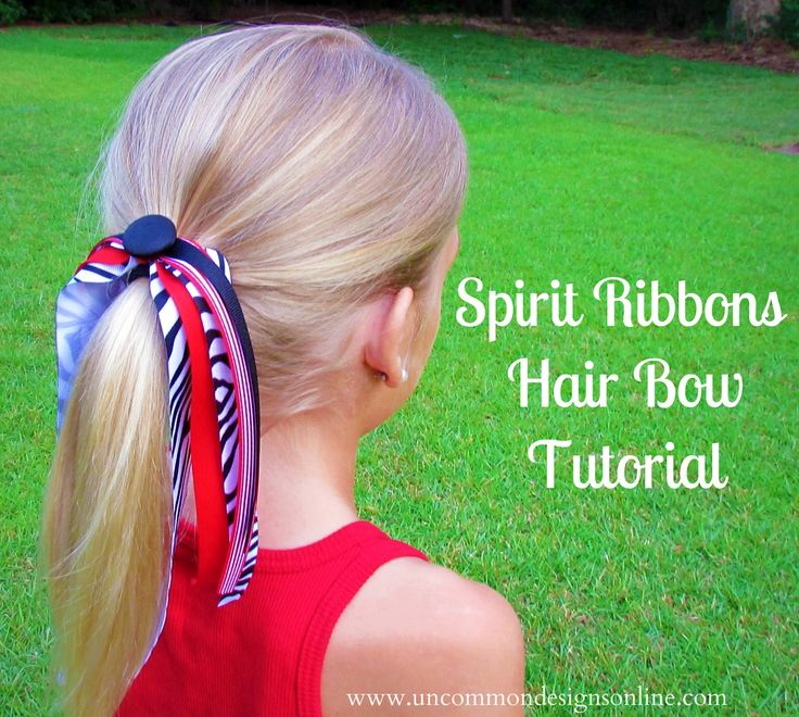Spirit Ribbons Hair Bow Tutorial; my daughter was a certified jock and I did a lot of projects like this one before big swim meets, volleyball matches, LaCrosse matches (or whatever the sport of the high school season was) - the girls loved wearing matching ribbons, earrings, bracelets - go crazy!