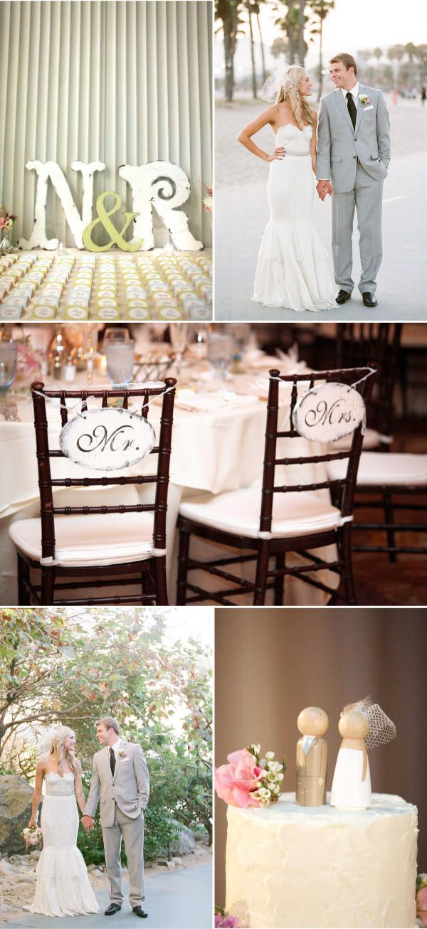 Anything monogrammed..obsessed! Mr. and Mrs. signs for the back of the chairs..love the extra touch.