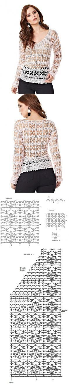 This pattern would make an elegant shawl!  ♥A
