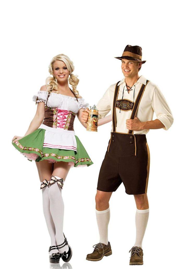 German Bavarian Couples Costumes, Adult Halloween Costumes -6306