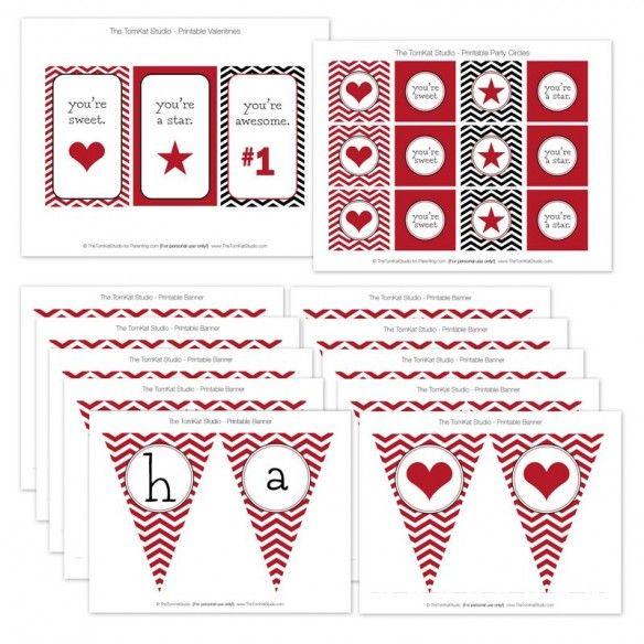 12 Free Valentine Printables for Parenting Magazine!