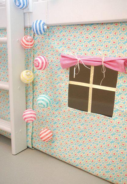 Gardinen & Vorhänge - letzter Hochbettvorhang für das Spielbett - ein Designerstück von sincerelyyours bei DaWanda