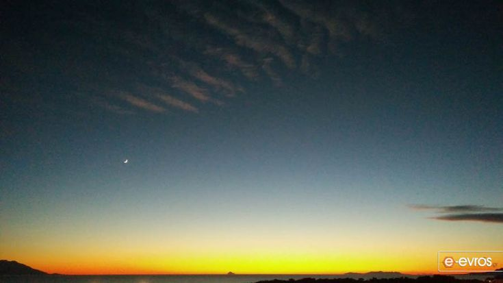 Σαμοθράκη, Θάσος και Άγιο Όρος με φόντο τον πύρινο Θρακικό ουρανό.