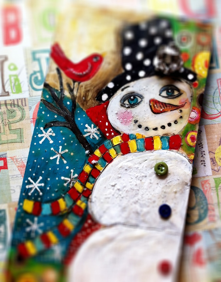 Whimsical Snowman Holiday Decor by evesjulia12 on Etsy, $52.00