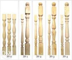 Балясины из дерева, ножки столов