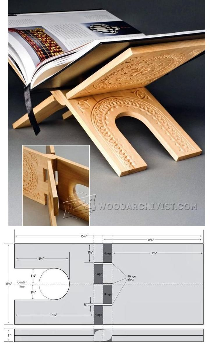 Make Book Stand Woodworking Plans and