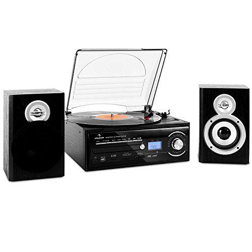 auna TT-190 Chaîne stereo platine vinyle enregistrement MP3 CD USB K7 (fonction encodage MP3, entrée AUX, sortie casque): L'auna TT-190 est…