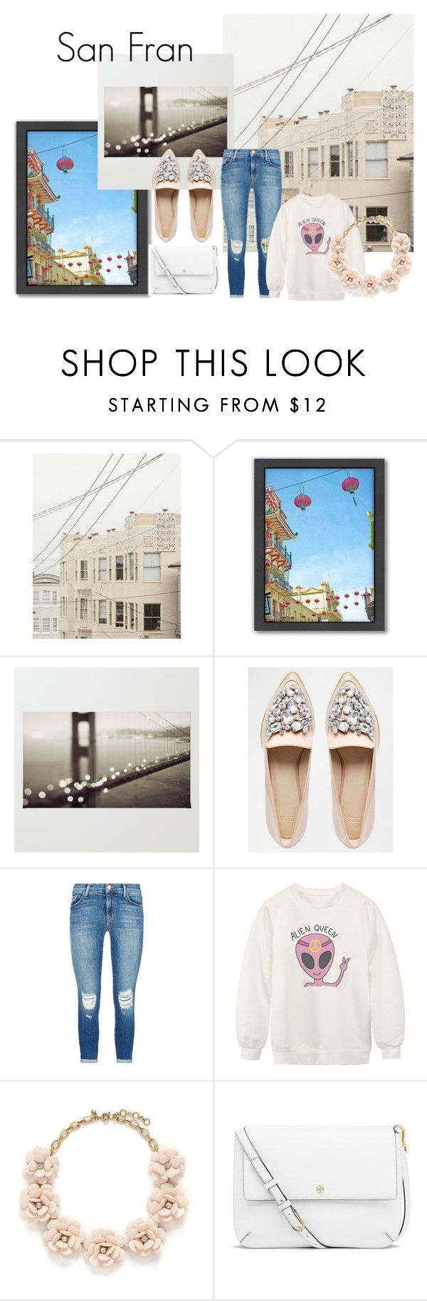 #sf by slounis on Polyvore featuring moda, Chicnova Fashion, J Brand, ASOS, Tory Burch, J.Crew, Americanflat, women's clothing, women's fashion and women