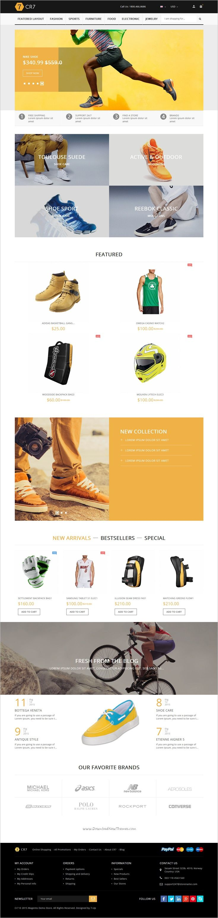 Shop store is wonderful responsive html bootstrap template for awesome shoes ecommerce
