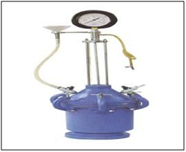 Air Entrainment Meter :EI 25  As entrainment of air in limited percentage improves durability of concrete and very low percentages deteriorate it ,measurement of air entrapped in freshly mixed concrete becomes important. http://www.lab360.co.in/cement-test.htm