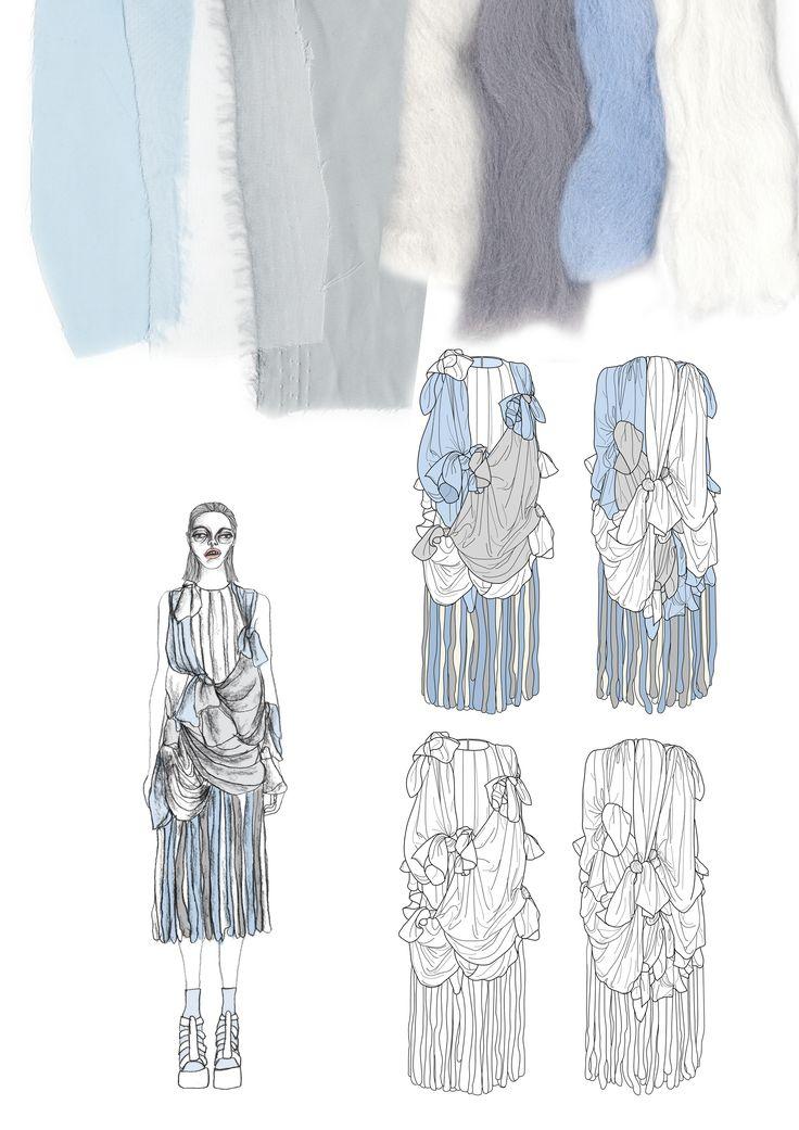 Fashion Sketchbook - fashion illustrations & textile swatches; creative fashion portfolio // Giryung Kim
