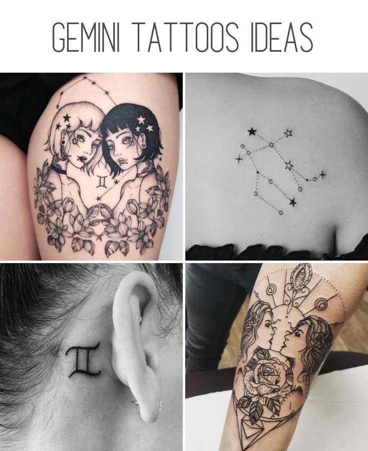 52 Stunning And Non Boring Gemini Tattoos Our Mindful Life Gemini Tattoo Gemini Zodiac Tattoos Gemini Sign Tattoo