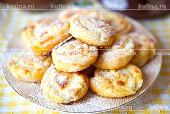 Ванильные булочки с творогом - рецепт с фото
