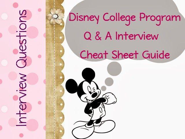 Disney College Program Interview Questions
