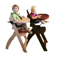 Beyond Junior Y Wooden Baby High Chair by Abiie.com comes in two colors: Natural Wood &  Mahogany.  Lovely isn't?    #highchair #high chair