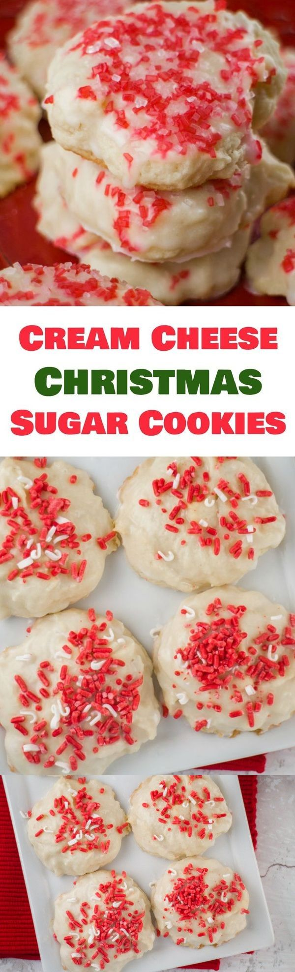 Christmas Cream Cheese Sugar Cookies