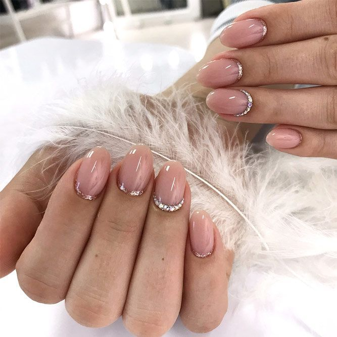 24 Cute Designs For Oval Nails To Rock Anywhere Oval Nails Oval Nails Designs Nail Shape Chart