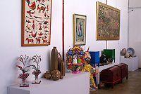 Art gallery at Fabrica La Aurora Art and Design Center, San Miguel de Allende, Mexico. San Miguel de Allende is a UNESCO World Heritage Site....