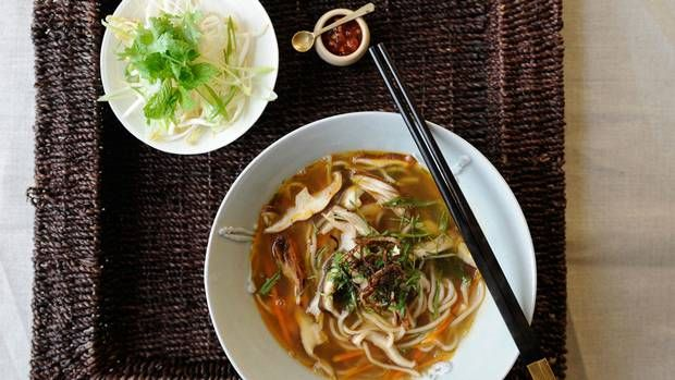 After many rich meals over the holiday season, a light and spicy one-bowl soup is just the thing to refresh and restore the overindulged body