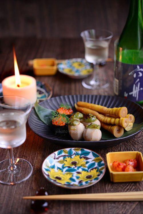 「木の芽味噌田楽と細竹の煮つけ」 #花ヲツマミニ