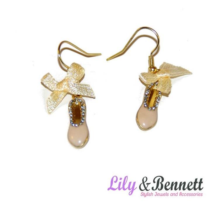 Lovely earings with ballet ballerina patterns  www.lily-bennett.com